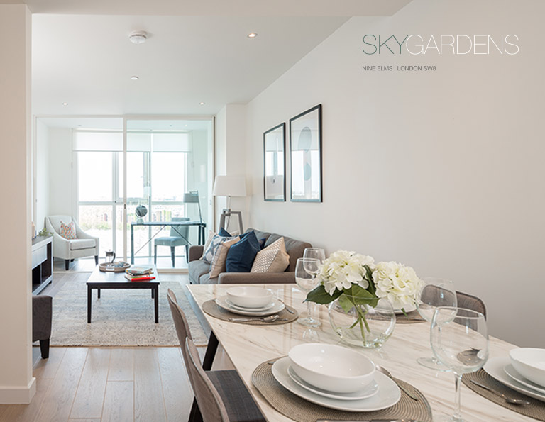 1-bed apartment in Sky Gardens, SW8