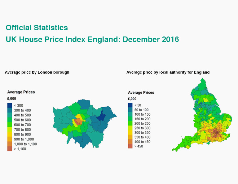 UK House Price Index England: December 2016