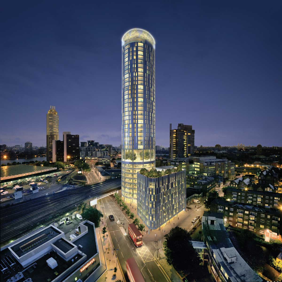 Strawberry Star corporate office now at Sky Gardens, Vauxhall, London